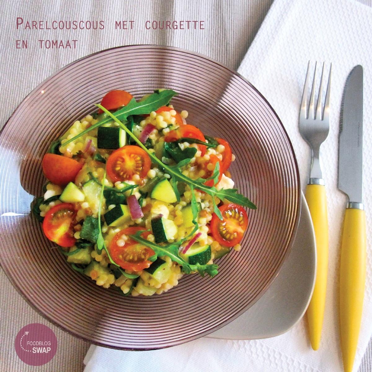 Foodblogswap: Parelcouscous met courgette en tomaat